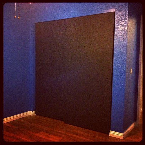 Chalkboard doors!  And a weird light ghostie.