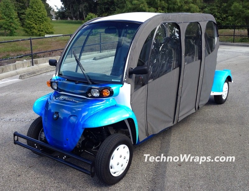 Golf cart vinyl graphics wrap