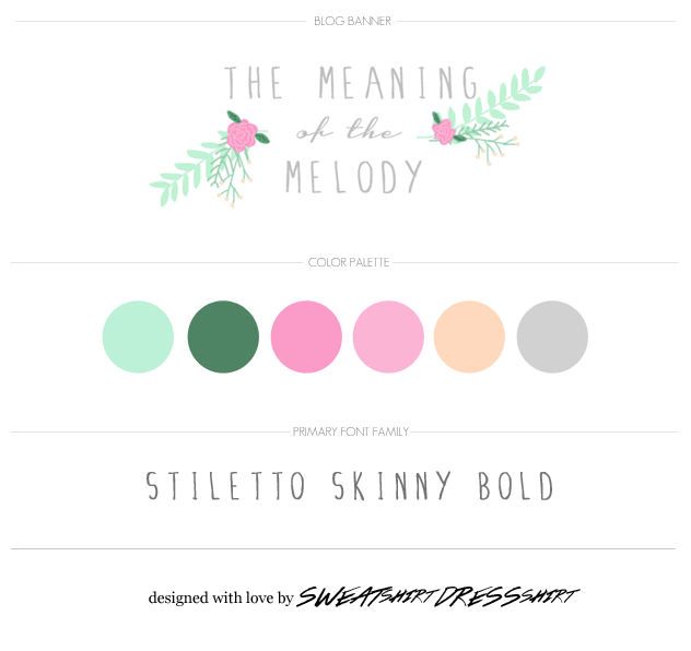 blog design, freelance blog design, cute blog banner, hand-drawn flowers, stiletto skinny bold font, roses graphic