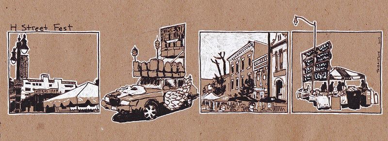 H Street sketch strip