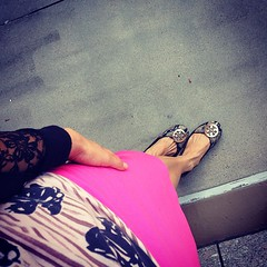 Pink is my signature color #fmsphotoaday #ootd #fromwhereistand#anthropologie#jcrew#toryburch