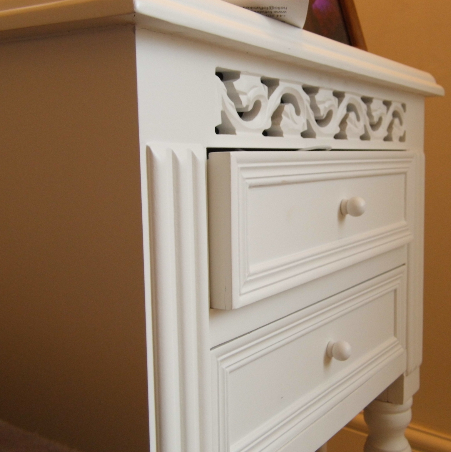 Out There Interiors Nightstand French Style White