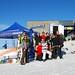 Testování lyží na ledovci Kitzsteinhorn