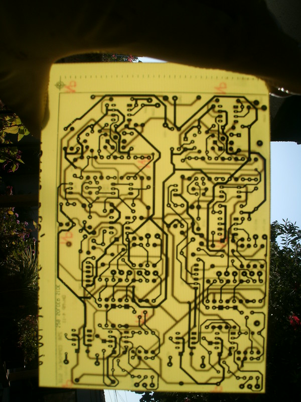 Etched 258B PCB