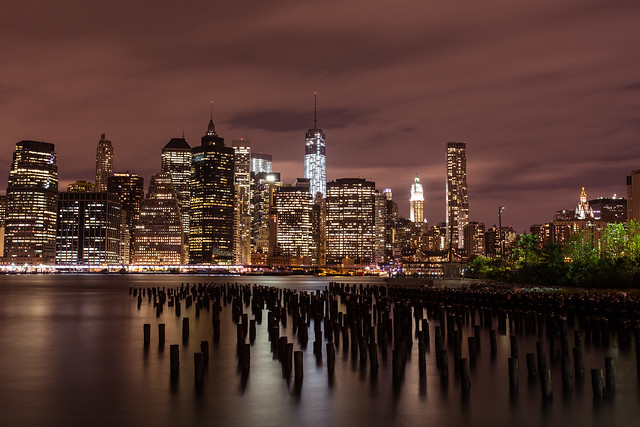 Bright lights, big city: Manhattan skyline from DUMBO *11*