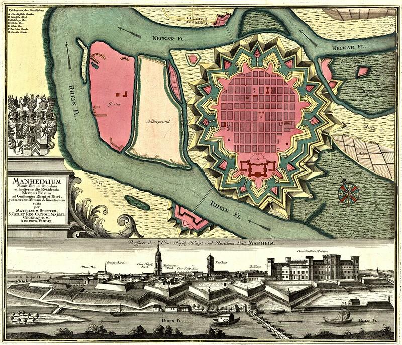 Matthäus Seutter - Prospect der Chur Fürst Haupt und Residenz Statt Manheim (c.1732-1740)