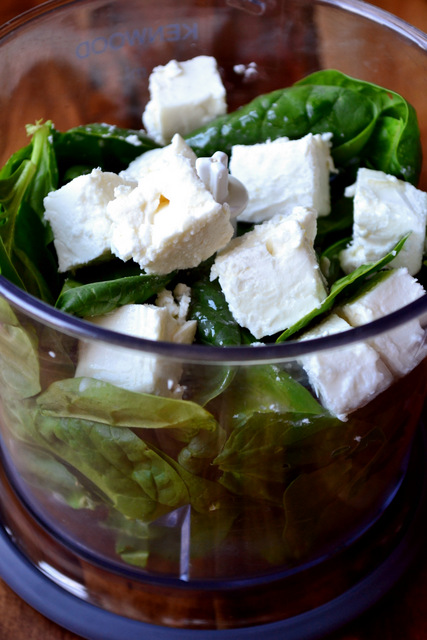 Spinach, Feta and Walnut Pesto