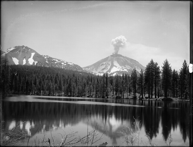 Lassen Peak Eruption over Manzanita Lake
