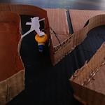 BrushBot testing the track