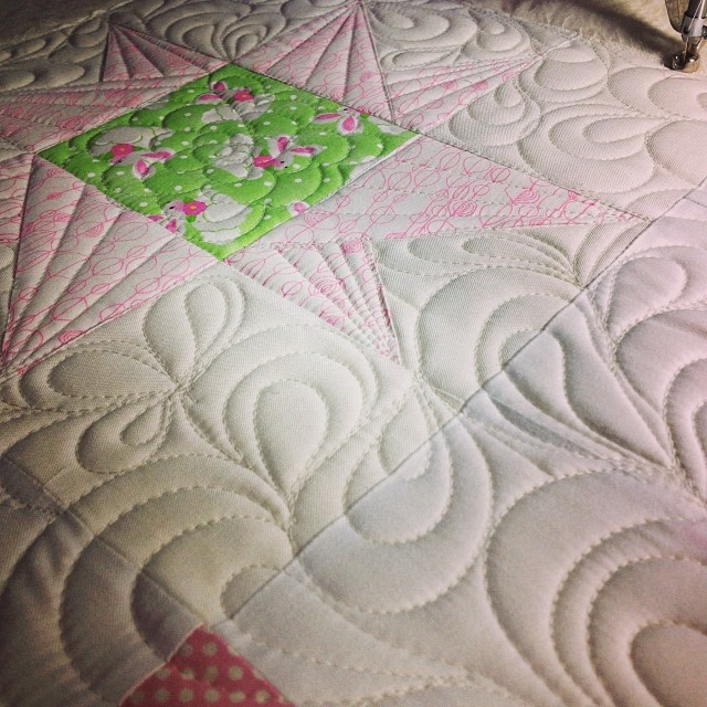 A little quilting today...