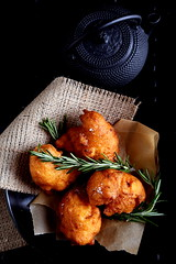 Olives for Dinner | Sweet Potato and Rosemary Beignets