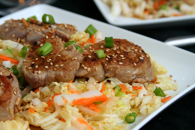 asian pork tenderloin with slaw 5