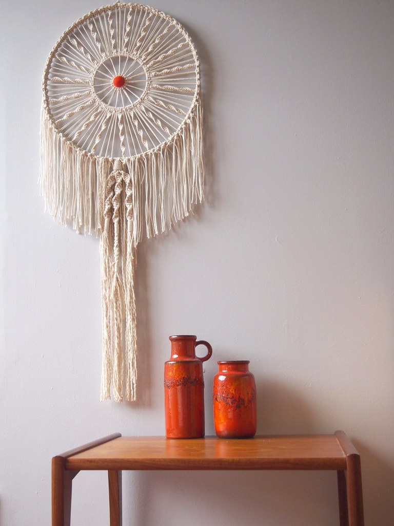 Wall Hanging Craft Design : Macrame on wall hangings bag