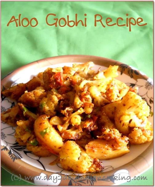 recipe of making aloo gobhi north indian style