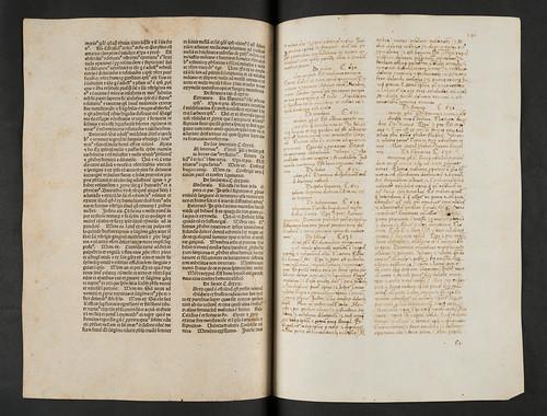 Missing text supplied in manuscript in Avicenna: Canon medicinae. Lib. I-V. [Latin]