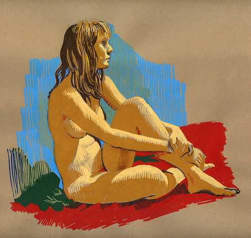 Life drawing- Crystal