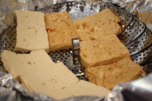 Tofu ready to smoke