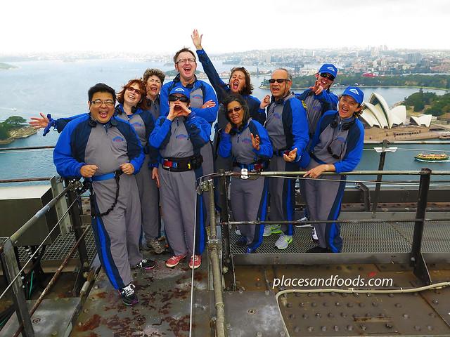 bridge climb group picture
