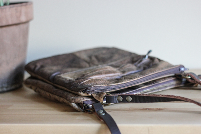 Eco Recycled Leather Crossbody Bags