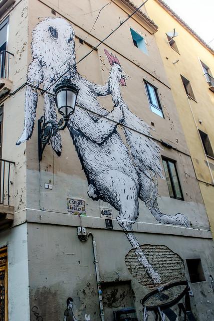 Graffiti en Valencia. Ericailcane