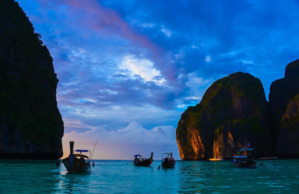 Sunset In Maya Bay