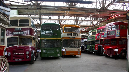 Photograph of buses at the Museum of Transport, Greater Manchester