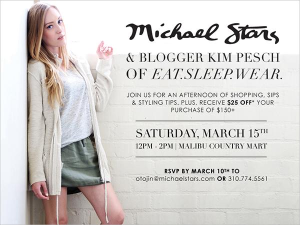 Michael-Stars, EatSleepWear, invite, malibu, event