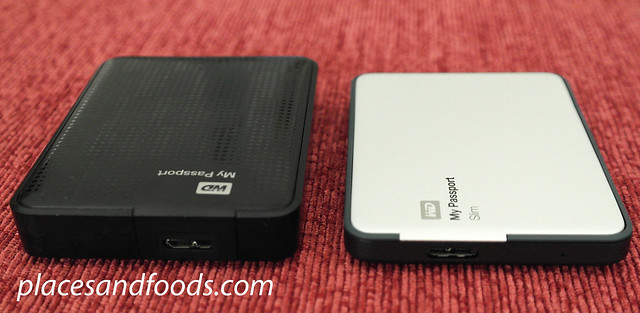 WD My Passport Slim comparison