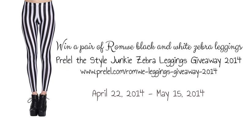Romwe Zebra Leggings Giveaway