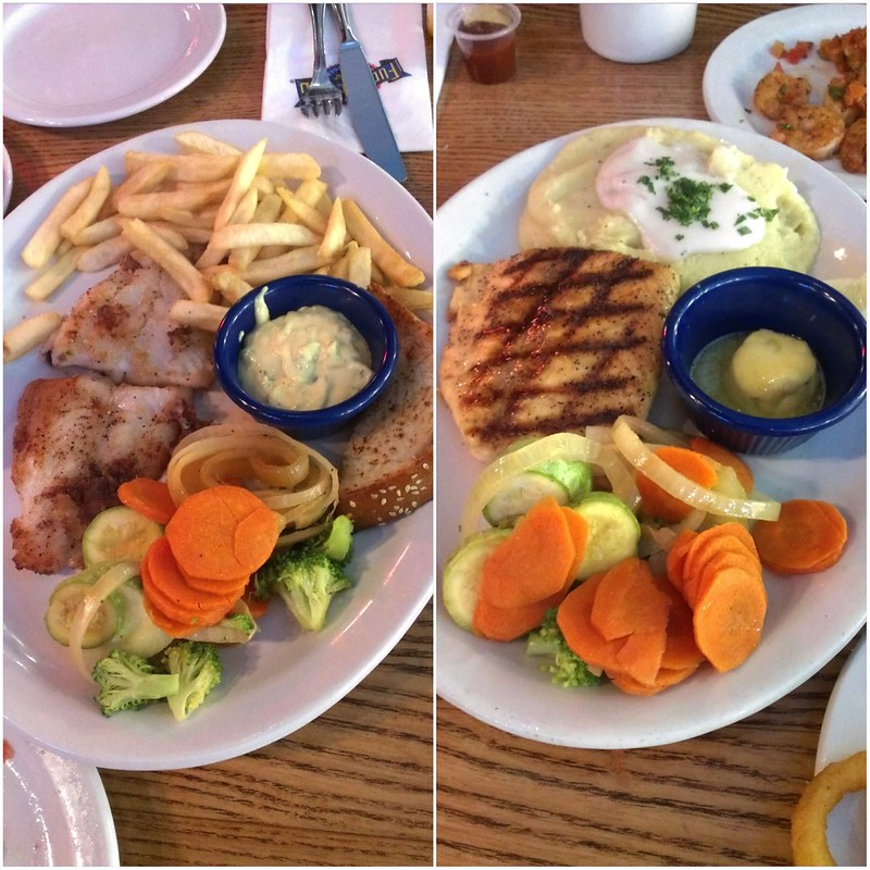 Aioli fish and Grilled Salmon