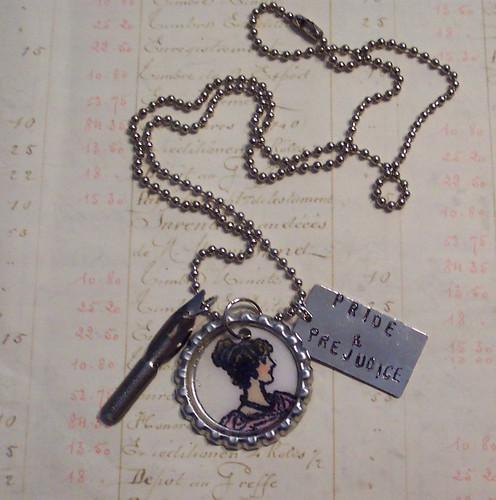 Jane Austen Pride and Prejudice Necklace
