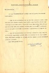 VI/2. Az Egri Érseki Jogakadémia igazgatója, dr. Ivánovich Emil kéri az 1939-1941. évi kimutatást a zsidó származású hallgatók létszámáról, mivel 1942 és 1944 között hatvanhét zsidó származású jogakadémiai hallgatót vettek föl. HML_7.2.1
