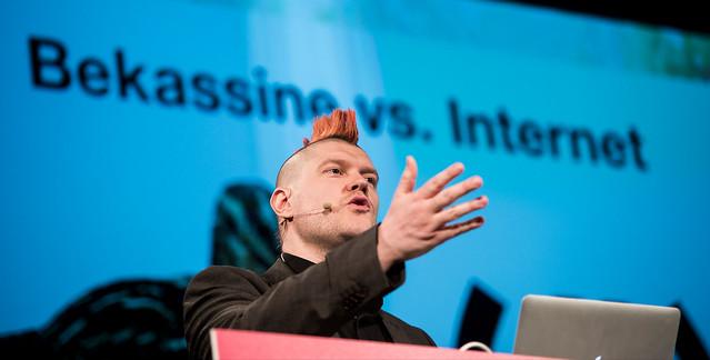 re:publica 2014: Sascha Lobo auf der Netzkonferenz.