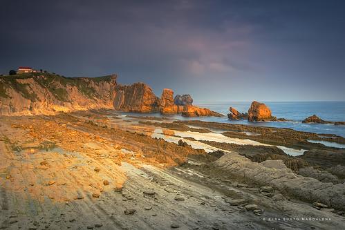 naturaleza luces mar playa amanecer rocas cantabria cantabrico liencres arnía costaquebrada elsabustomagdalena pitusa2paisaje