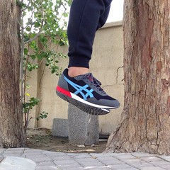 Just hanging out for fresh air around the office. #levitation #onitsukatiger #shoes #sneakers