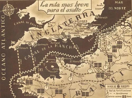 plano anterior al desembarco de Normandía del diario de barcelona