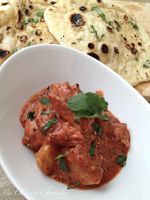 Chicken Aloo Tikka Masala & Garlic Naan