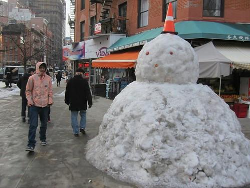 Lower East Side Giant Snowman