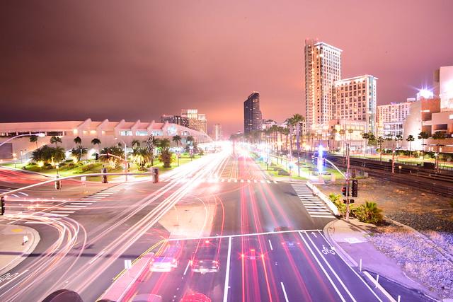 City Lights from Harbor Drive Pedestrian Bridge