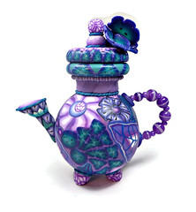 polymer clay Mini Teapot