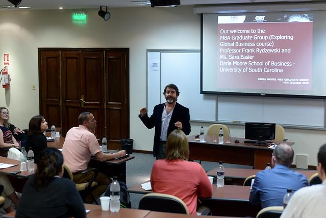 Visita de estudiantes de MBA de Darla Moore School of Business de University of South Carolina