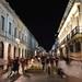 Toma nocturna en la Calle Macedonio Alcalá, Oaxaca de Juárez, OAX, México