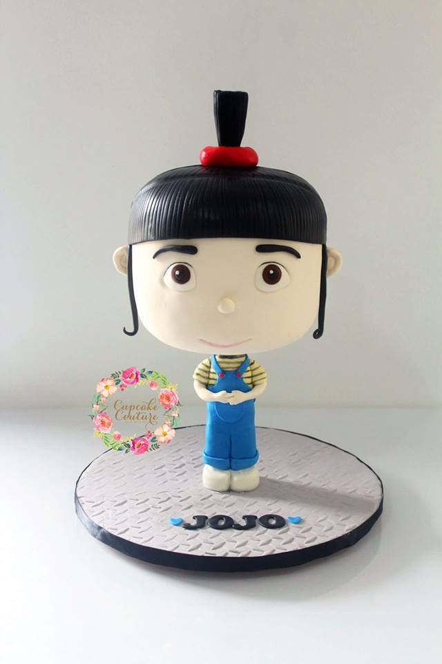 3D Chibi Cake - Agnes of Despicable Me by Marie Mae Tacugue of Cupcake Couture Davao