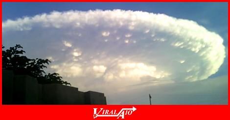 Big cloud in Cartagena Colombia