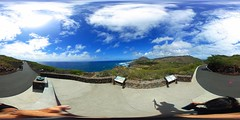 From the lookout at the end of the first leg of the Makapu'u Lighthouse trail- a 360° Equirectangular VR