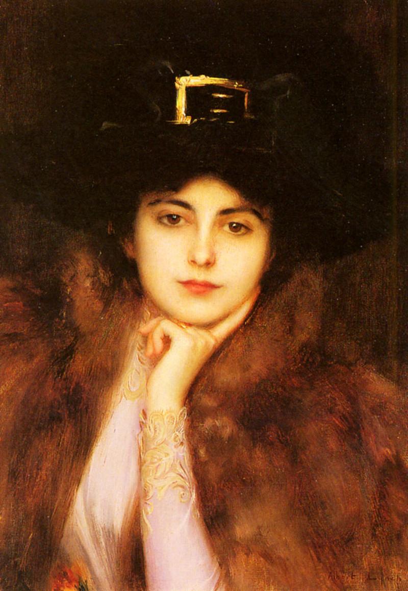 Portrait Of An Elegant Lady by Albert Lynch