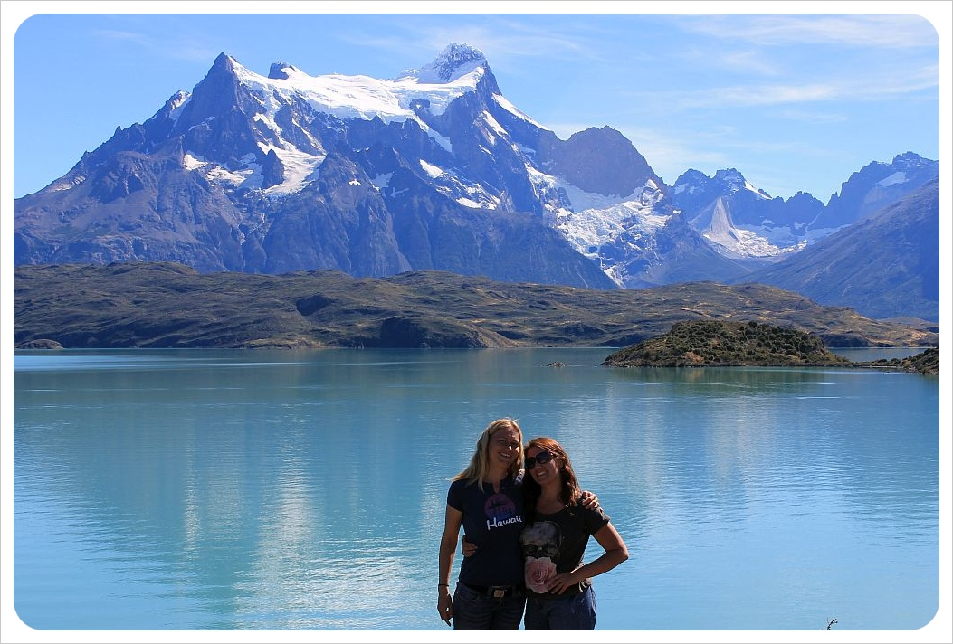 dani and jess torres del paine lake