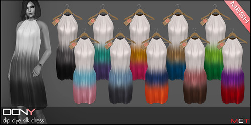 DCNY Dip Dye Silk Dress Colors