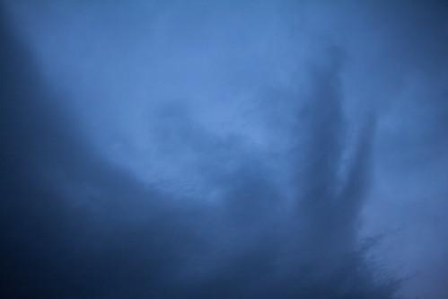 blue sky up clouds sunrise swirls 2013