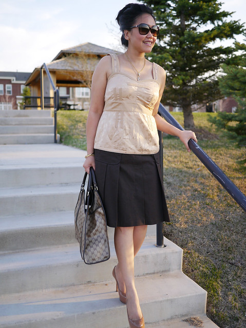 escada skirt - marc jacobs top - ysl tribtoo5